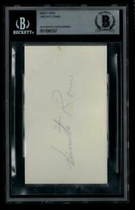 Vicente Romo Signed 3x5 Index Card Autographed Dodgers Mexican Hall of Fame BAS