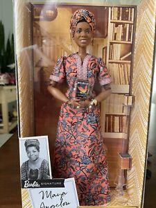Barbie Signature Inspiring Women Maya Angelou Collector Doll In Hand