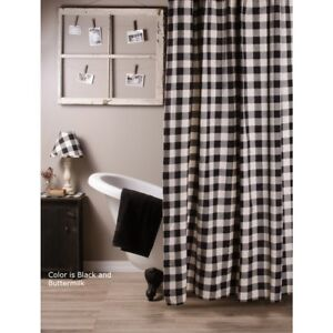 Image Is Loading Country Black Buffalo Check Shower Curtain 72x72 Cotton