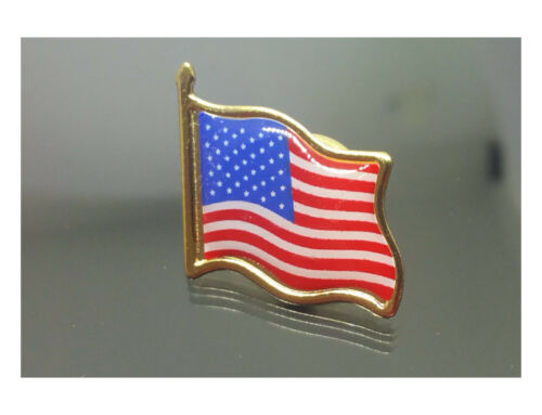 50 AMERICAN FLAG LAPEL PINS LOT United States USA Tie Badge Pin SHIPPED from US