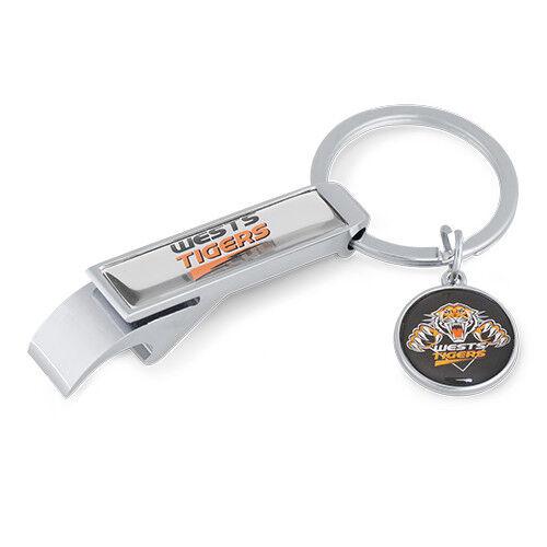 New Zealand NZ Warriors NRL Metal Keyring Key Ring Bottle opener with Pendant