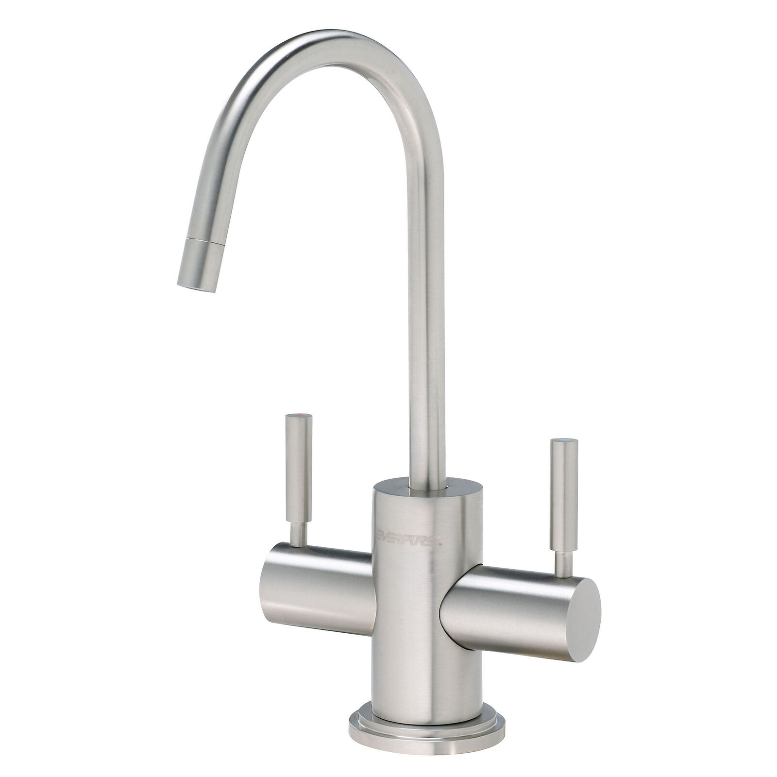 Pentair Everpure 2 Double Handle Kitchen Sink Filtration Faucet, Stainless Steel
