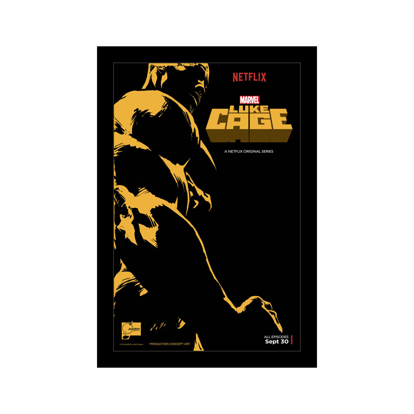 LUKE CAGE - 11x17 Framed Movie Poster by Wallspace