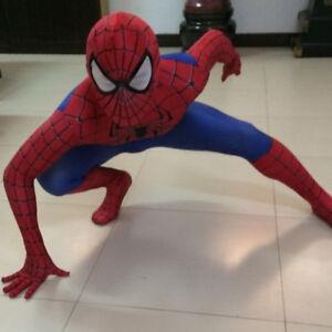 Spiderman Cosplay Kostüm Herren Kinder Jungen Overall Jumpsuit Karneval Outfits
