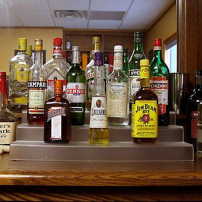 Liquor Bottle Shelf 24 Inch 3 Tier Translucent Bar Pub