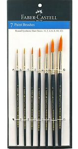 Round Blue Faber-Castell 7 Paint Brushes