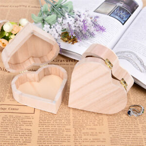 Handmade-Love-Heart-Wood-Jewelry-Organizer-Box-Container-Earrings-Ring-DisplaAB