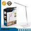 LED-Tischlampe-Schreibtischleuchte-dimmbar-Lese-Lampe-Nachttischleuchte-USB-weiss Indexbild 1