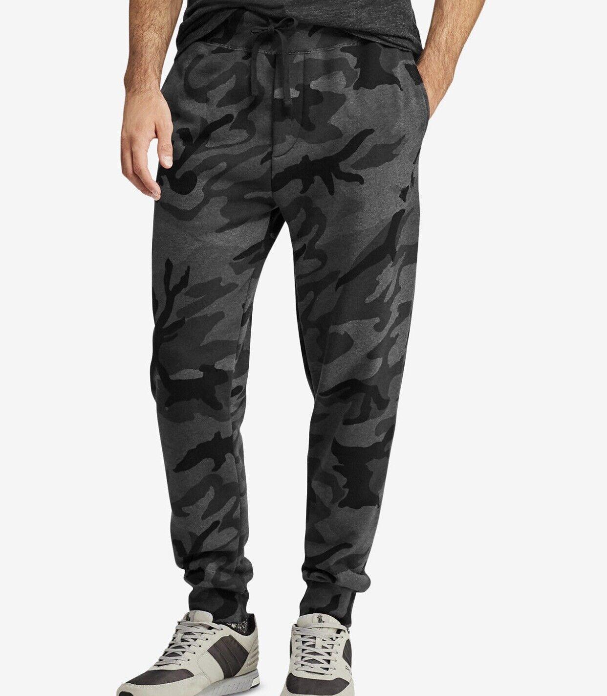 Polo Ralph Lauren cotton blend fleece jogger Pants Charcoal RL camo 2XL NWT