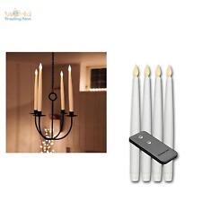 4er Set LED Stabkerzen 29cm hoch mit Fernbedienung, LEDs Kerze