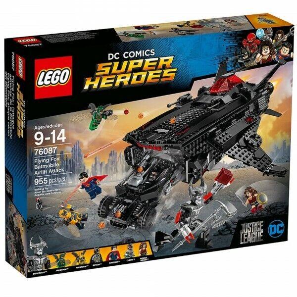 Lego  DC Comics super heroes 76087 en volant Fox  L'attaque aérienne de la Batmobile  70% de réduction