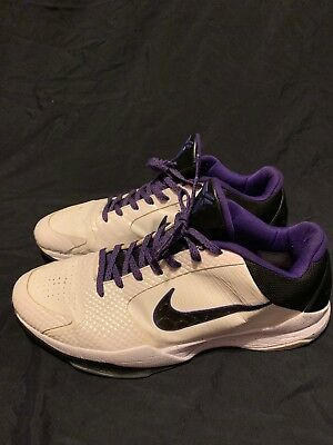 buy popular b6af5 b4e31 2010 Nike Zoom KOBE V 5 INLINE WHITE BLACK PURPLE DEL SOL 386429-101 12 |  eBay