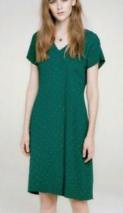 Toast X Dress Knee Madoka Size New Length Fit brand Green Loose Print 14 TTgrwBq