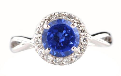 1.75 Carat 14KT White Gold Natural Blue Tanzanite /& EGL Certified Diamond Ring
