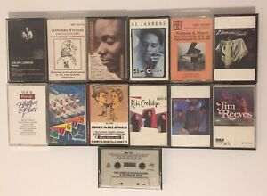 LOT-OF-13-CASSETTE-TAPES-Classic-Classical-80s-MISC-MOZART-GO-GOS-LIBERACE-ETC
