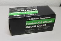 75-200mm Toyo Telephoto Lens For Pentax K-a Mount Zoom Lens F/4.5