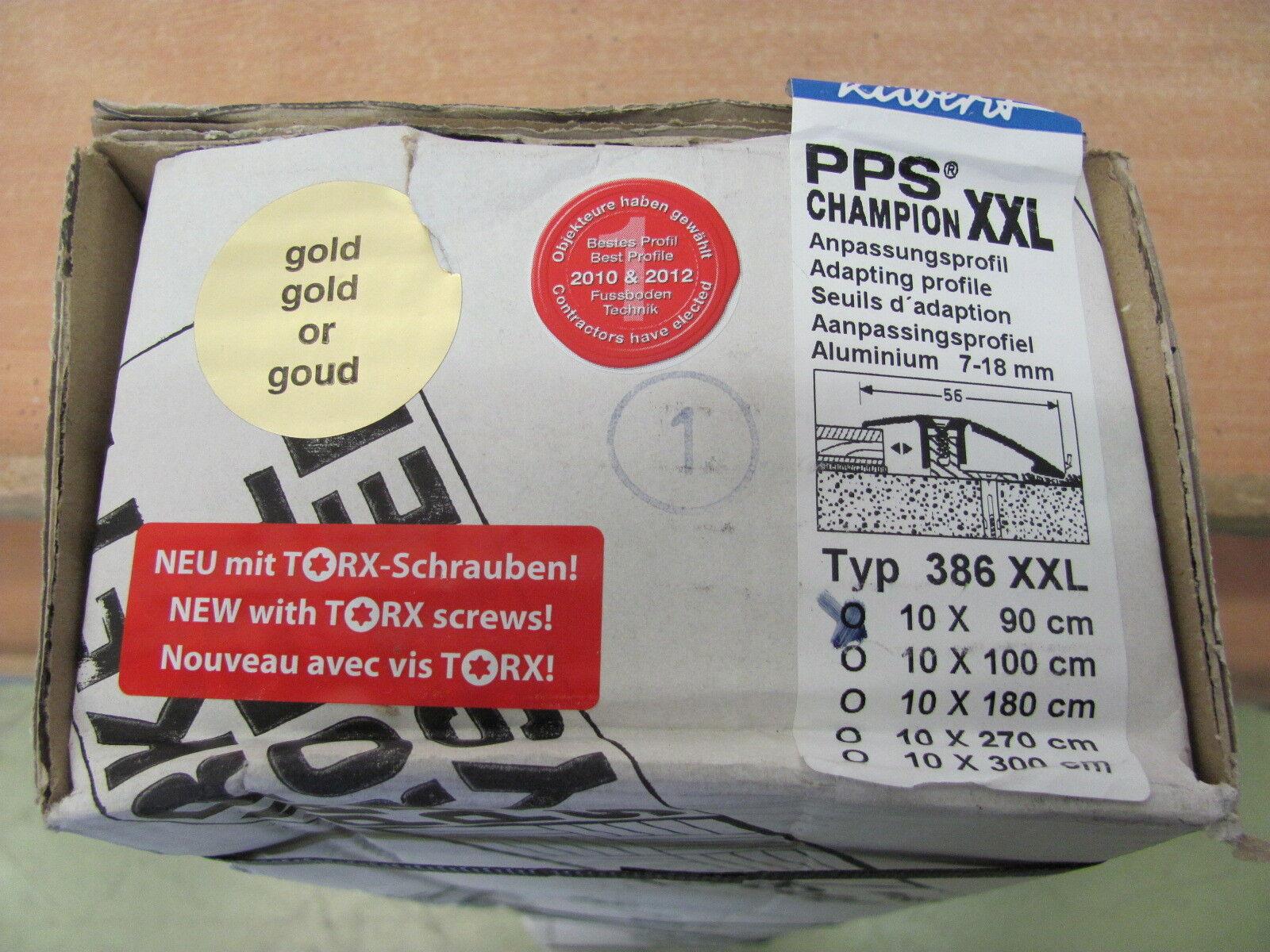 1m 10 x Küberit PPS Champion Anpassungsprofil 386 XXL Gold - L90cm B56mm