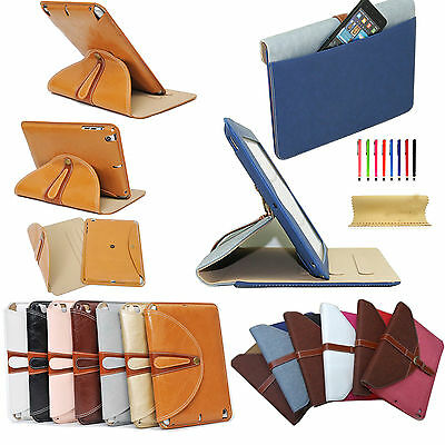 360 Rotating Luxury Leather Smart Pouch Bag Case Cover For iPad 2 3 4/Air 2/Mini