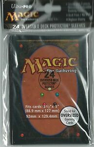 24-Ultra-Pro-Magic-CARD-BACK-OVERSIZED-Deck-Sleeves-Factory-Seal-Commander-82630