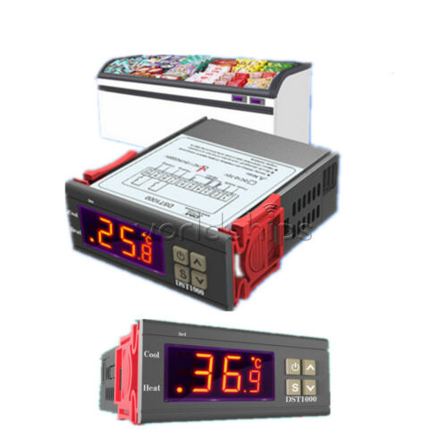 DST1000 DC12-72V AC110-220V Temperature Controller Thermostat and DS18B20 Probe