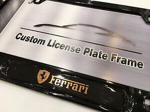 Black License Plate Frame FERRARI California F12 Enzo Berlinetta 488 LaFerrari