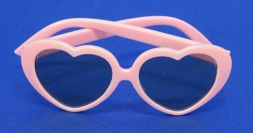 "Lovvbugg Sun Glasses Pink Hearts for 18"" American Girl Doll Clothes Accessory"