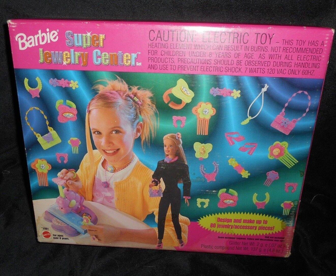 VINTAGE 1999 BARBIE SUPER JEWELRY CENTER 100% completare DESIGN  sautope PURSES 22901  offrendo il 100%