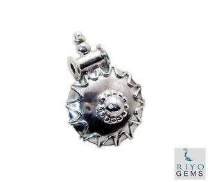 einladende-plain-925-Sterling-Silber-Plain-Anhaenger-echten-Edelstein-de-Geschenk