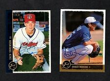 1999 JUST ORBER MORENO-OMAHA GOLDEN SPIKES AUTOGRAPHED CARD-EX-MINT
