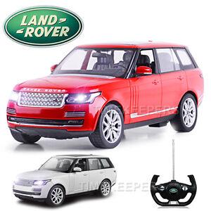 01:14: Nouvelle voiture électrique radiocommandée contrôlée par radio Range Rover Vogue, prête à fonctionner, rouge, blanc