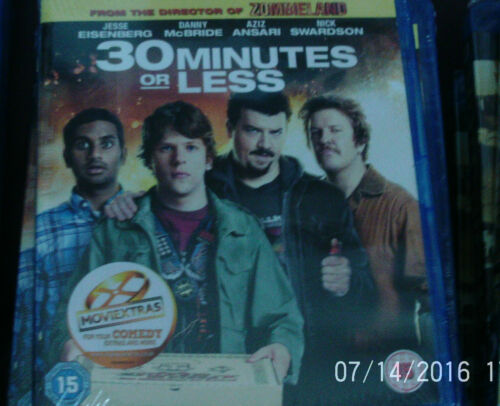 1 of 1 -  30 Minutes Or Less (Blu-ray, 2012) Brand New/Sealed/ sony - RRP £8.99