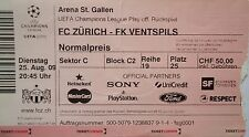 TICKET UEFA CL 2009/10 FC Zürich - FK Ventspils