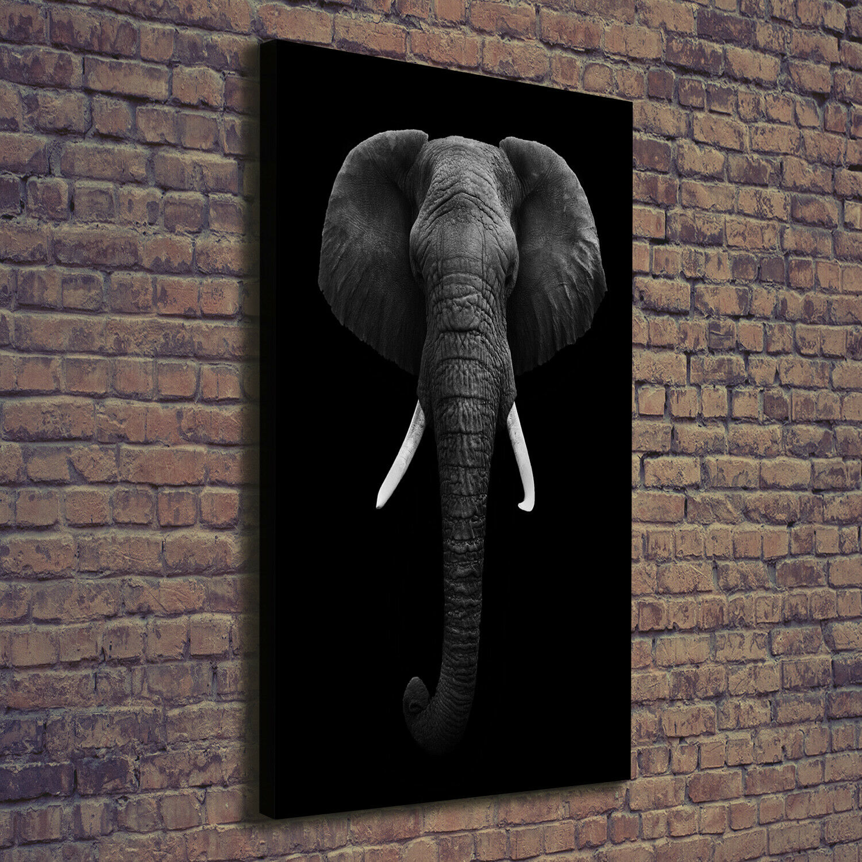 Leinwand-Bild Kunstdruck Hochformat 70x140 Bilder Afrikanischer Elefant