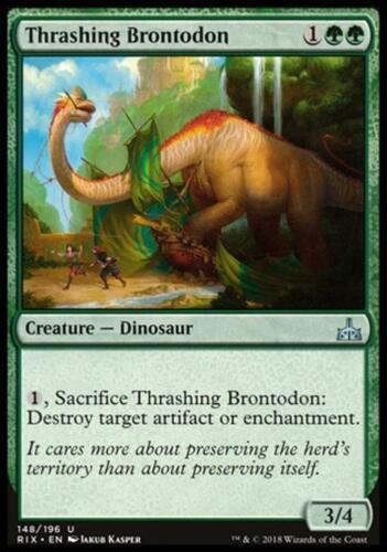 THRASHING BRONTODON Magic RIX Mint 2x BRONTODONTE DEVASTATORE