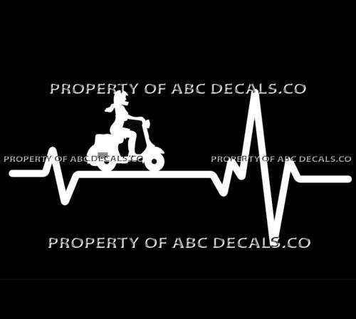 Vrs Herzschlag Line Roller Elektro Gas Mädchen Absatz Helm Vespa Auto Vinyl