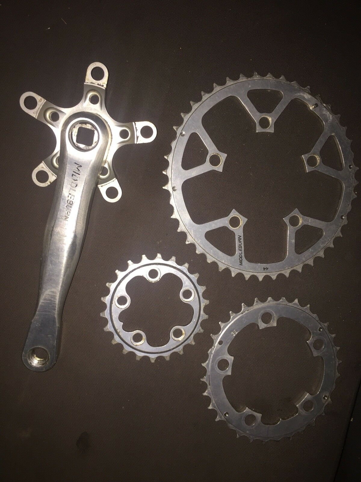 Retro Middleburn Crank Arm Crankset Chainset  Rs7 8 175mm Right Chainrings 5arm