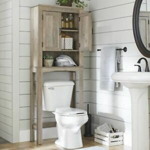 Rustic Gray Farm House Over Toilet