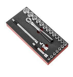 FACOM Module Schaum Fabric Socket Nut 1/2'' 6-Kant Metric 23 Pieces, MODM.SL171