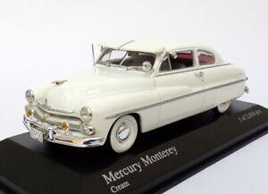 Minichamps-Escala-1-43-de-400-082401-a-1950-Mercury-Monterey-2Dr-Coupe-Crema