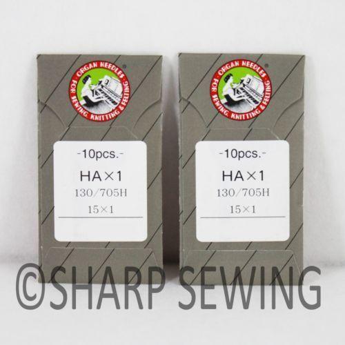 20 ORGAN 15X1SP HAX1SP STRETCH ELASTIC HOME SEWING MACHINE NEEDLE FLAT SHANK