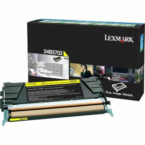 Genuine Lexmark 24B5703 YELLOW Toner Cartridge High Yield XS748