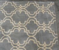 Pottery Barn Porcelain Blue Scroll Tile 5x8 Rug