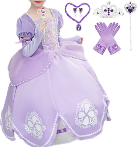 Romy/'s Collection Girls Sofia Inspired Princess Dress-Up Costume Set