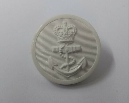Genuine British Royal Navy RN White Nylon Naval Issue Dress Buttons 36L NEW
