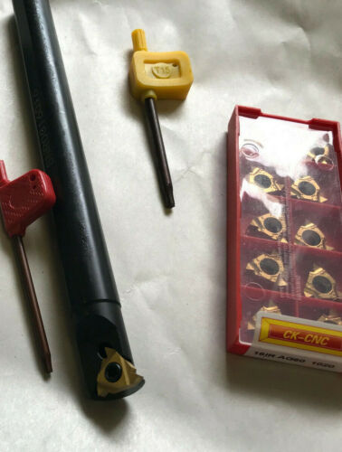 """3//4/"""" Threading Boring Bar Lot With 10 Piece Pack Carbide Inserts"""