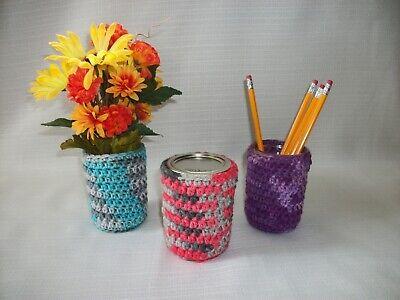 Crochet Jelly Jar Cozies Colorful Mason Jar Cover Cozy - Choose Color, Qty Beroemd Voor Geselecteerde Materialen, Nieuwe Ontwerpen, Prachtige Kleuren En Prachtige Afwerking