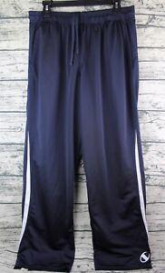 CHAMPION-Men-039-s-Size-Large-Dark-Blue-Athletic-Drawstring-Running-Track-Pants