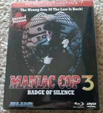 RARE! SEALED! MANIAC COP 3: BADGE OF SILENCE BLU-RAY + DVD BLUE UNDERGROUND