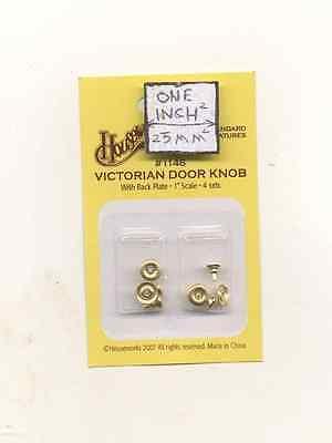 Door Knob Brass Victorian 1/12 scale dollhouse miniature 1145 Houseworks