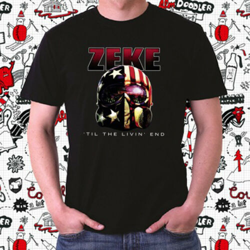 ZEKE Til The Livin End Logo Men/'s Black T-Shirt Size S to 3XL